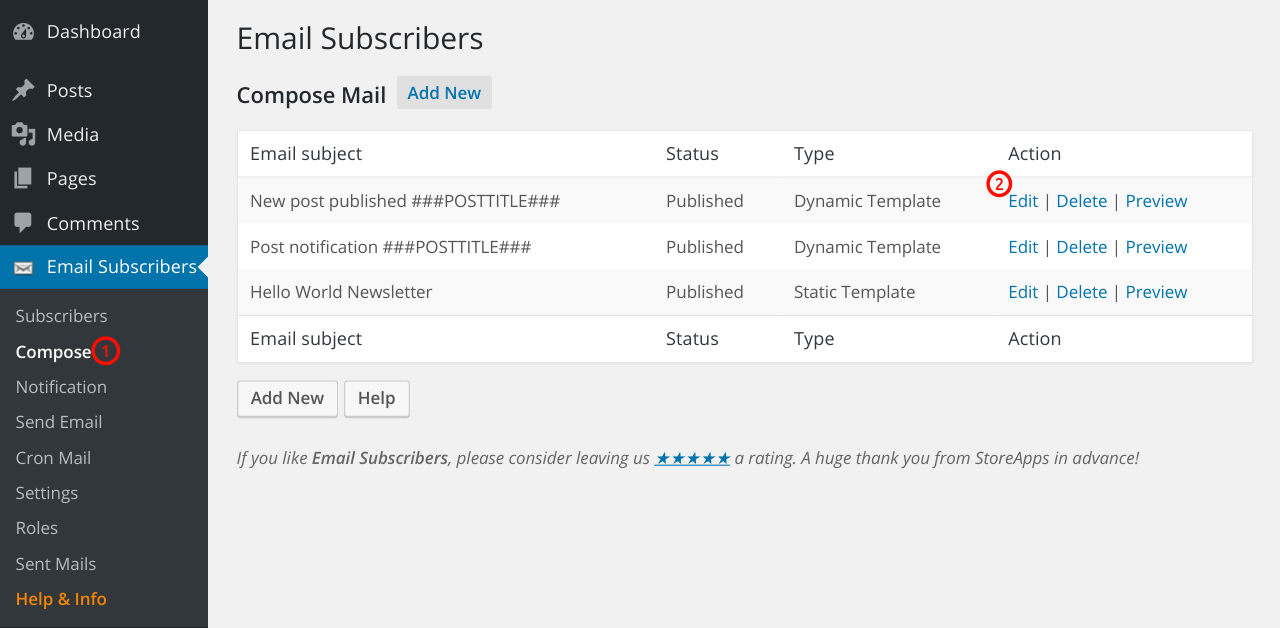 Send Automatic New Post Notification Emails Using Email Subscribers