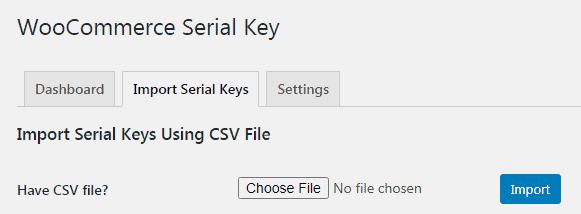 import serial key woocommerce