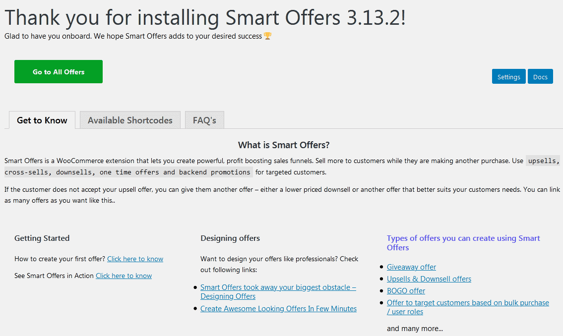 smart offers welcome page
