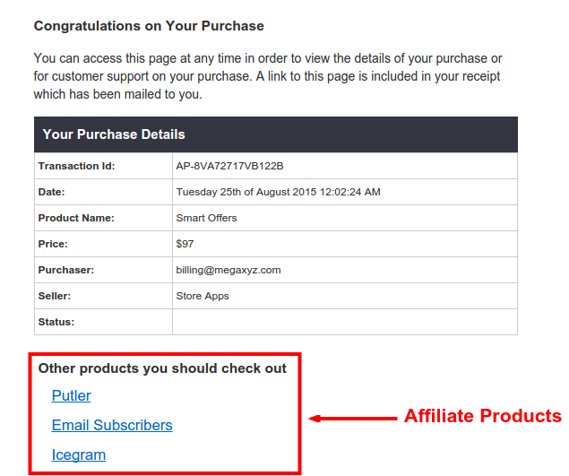 Redirect to an Affiliate Page