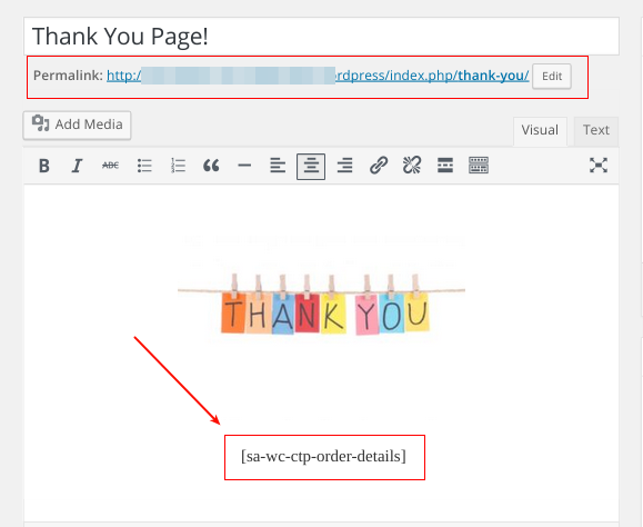 redirect customers to a Custom Thank You Page