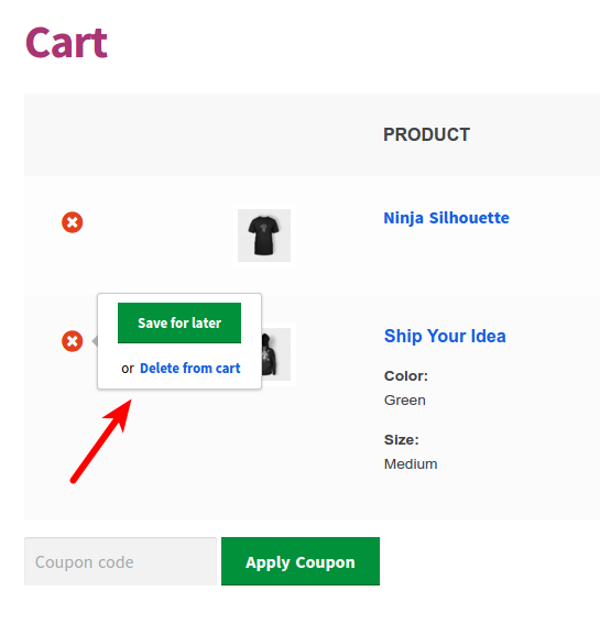 How Save For Later For WooCommerce Works