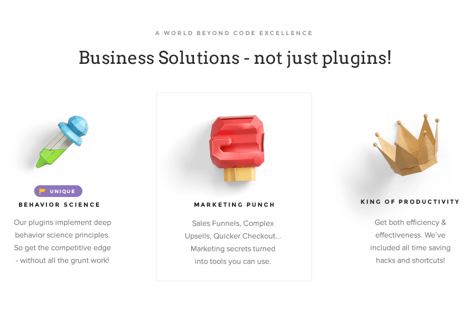 Business Solutions - not just plugins!