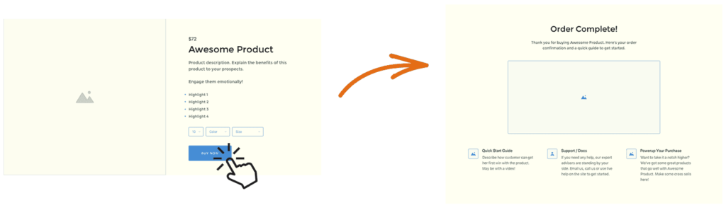 WooCommerce one click checkout