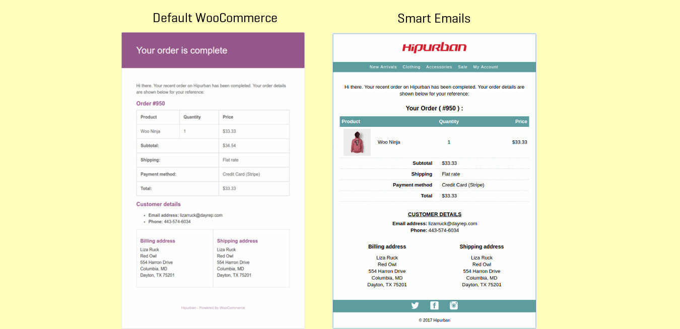 Better WooCommerce emails in one switch