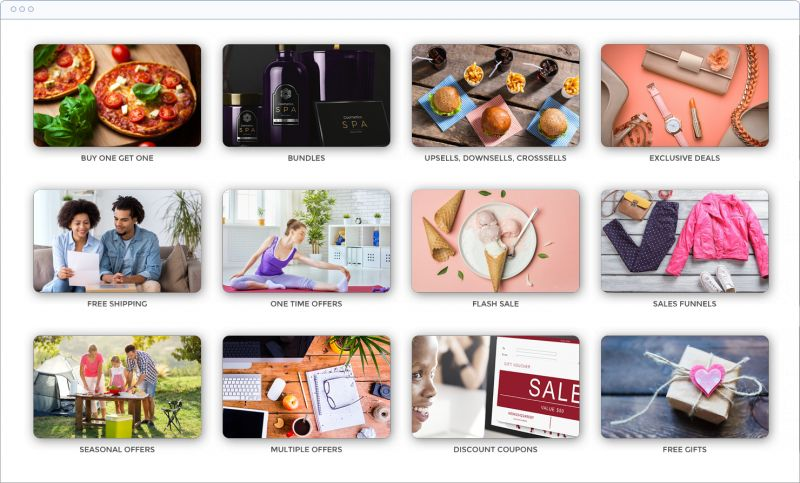 Various offers you can set on your WooCommerce store with Smart Offers