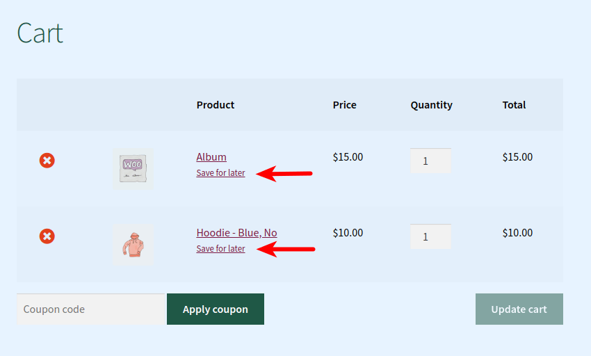 Save For Later For WooCommerce