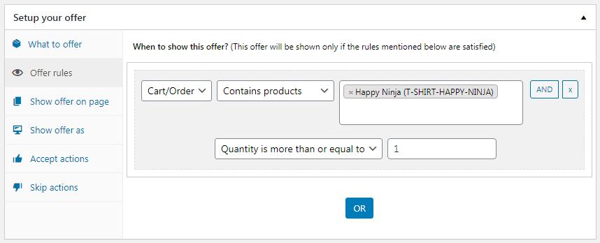 WooCommerce BOGO set rules