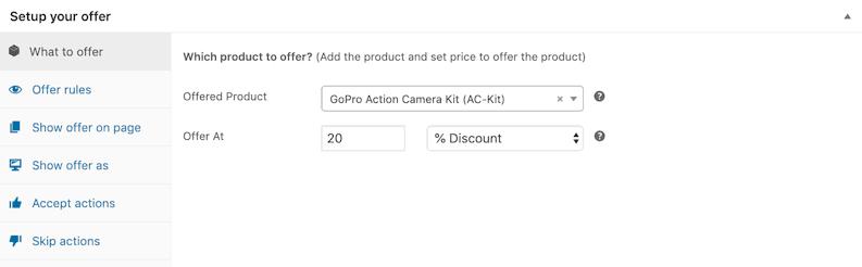 Upsell GoPro camera kit bundle