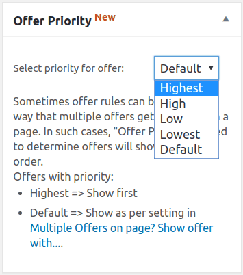 smart offers offer priority