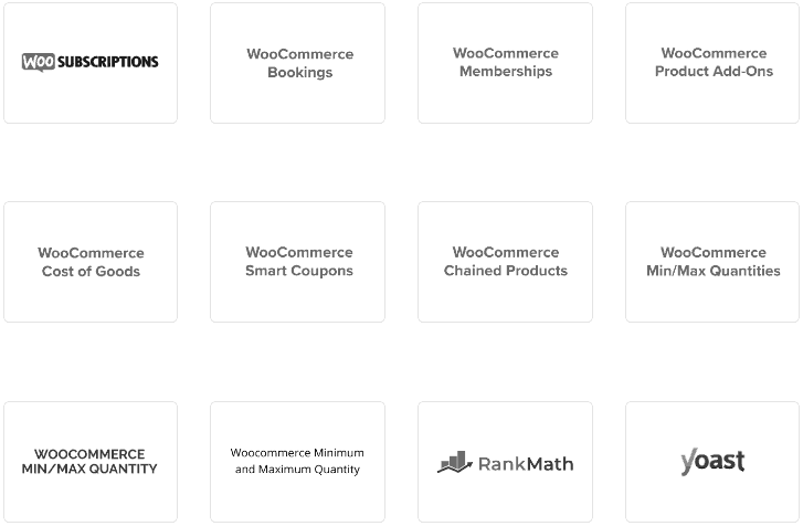 Smart Manager works with dozens of different WordPress and WooCommerce plugins