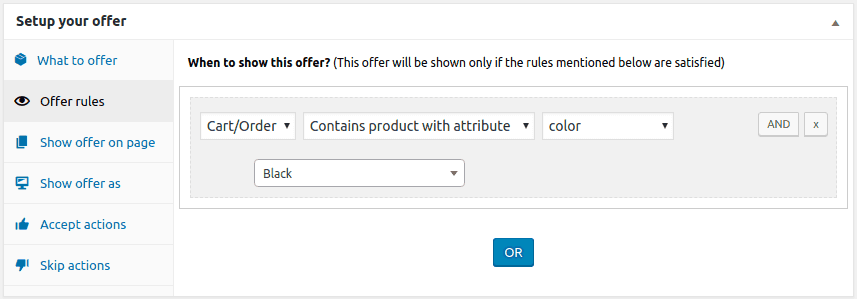 woocommerce product attribute upsell