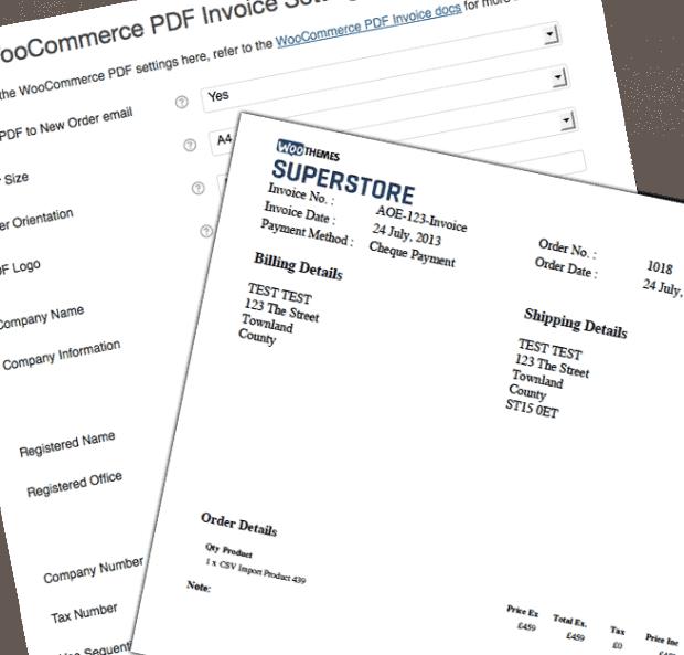 PDF Invoices plugin WooCommerce