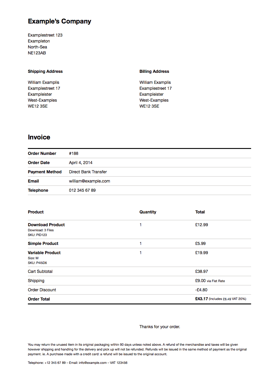 Print Invoices & Delivery Notes for WooCommerce plugin