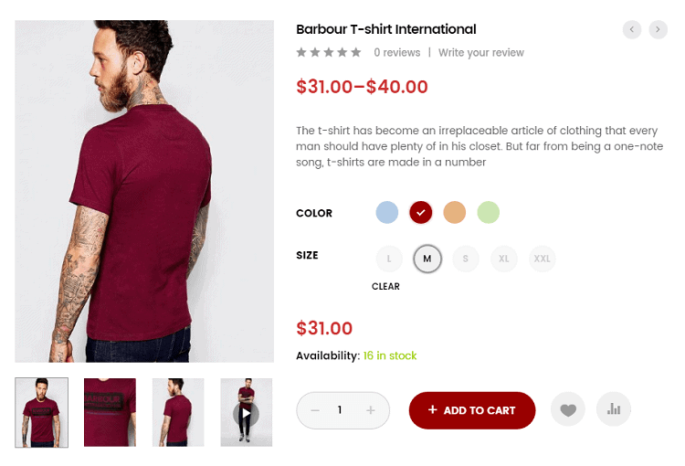 Variations Swatches for WooCommerce