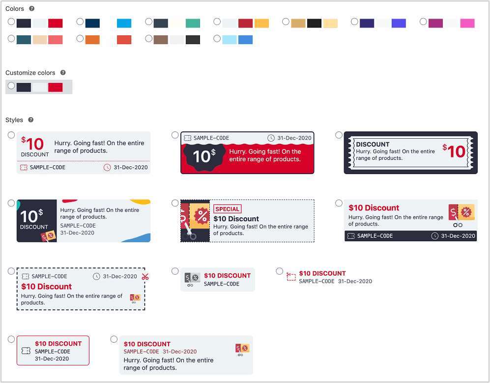 woocommerce smart coupons styles