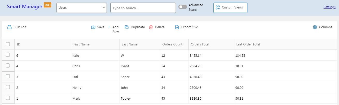 woocommerce customer export based on admin columns filters