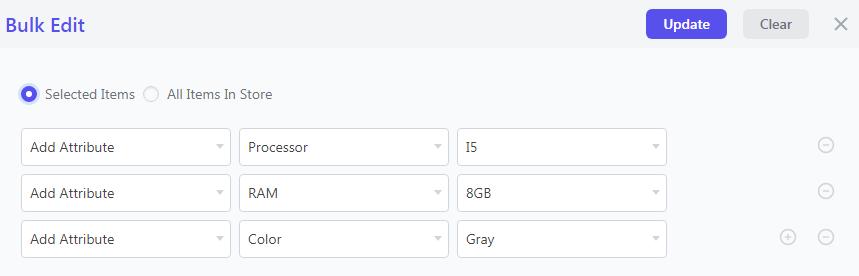 Add multiple attributes in a single bulk edit operation in WooCommerce