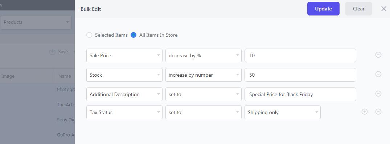 WooCommerce bulk edit operation using Smart Manager