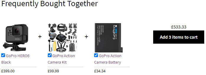 Frequently bought together products