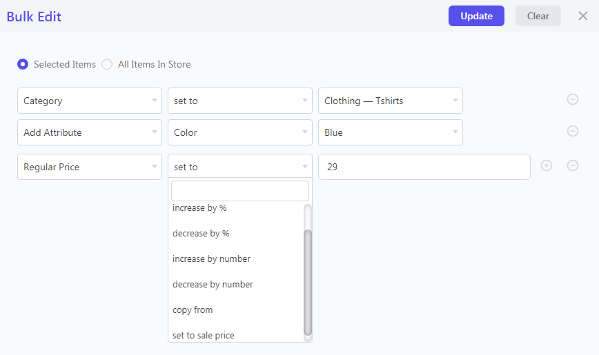 Bulk edit product price using Smart Manager